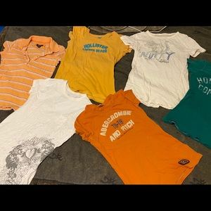 Lot of 6 Juniors Name Brand Fitted Shirts